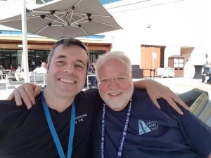 Tom Furness and Daniel Dyboski-Bryant at AWE 2019.