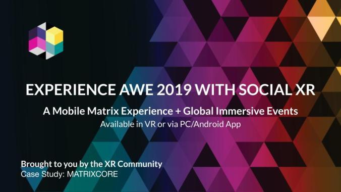 AWE 2019 AWE Social XR Experience Banner
