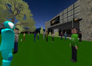 Educators in VR Event Space and World in AltspaceVR.