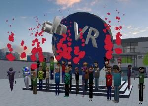 2020 Educators in VR International Summit - Closing Ceremonies Social - by globe
