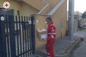 Delivery of medical supplies to a vulnerable member of the community unable to leave home