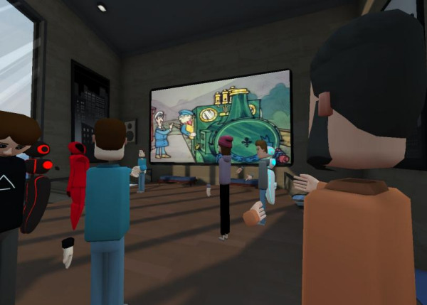 Michael McDonald teaches language classes in AltspaceVR.