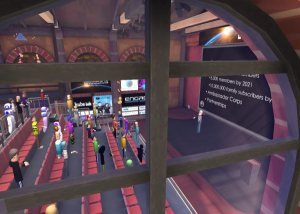 View of Tom Furness Keynote from outside the window - Educators in VR International Conference