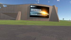 Somnium Space auditorium built for Educators in VR International Summit.