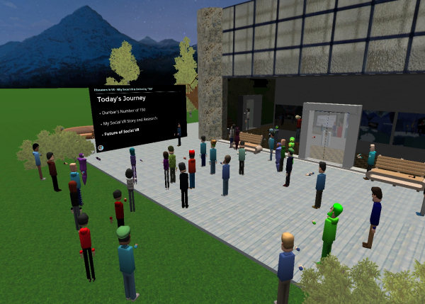 Michael Zhang Presents on Social VR Research in AltspaceVR.