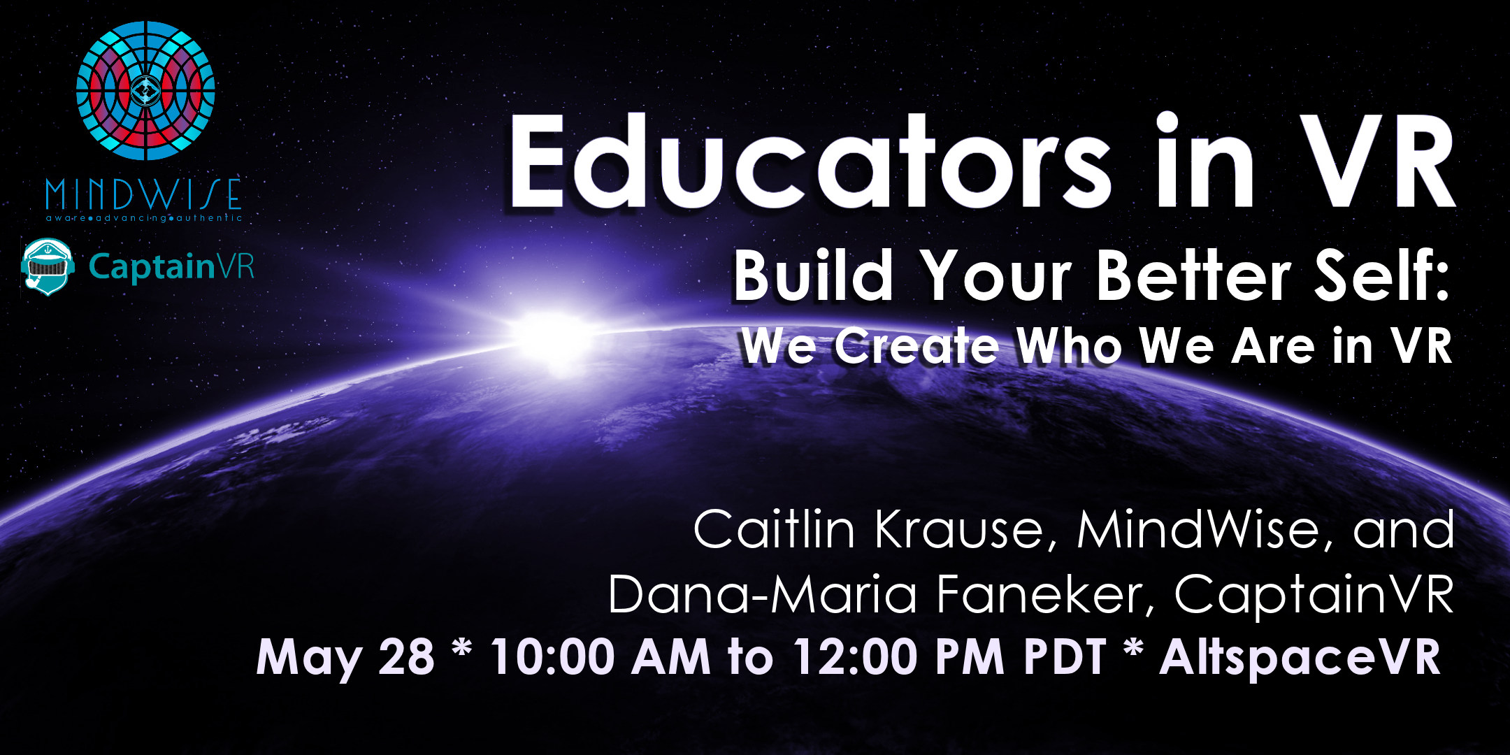 Build Your Better Self Workshop with Caitlyn Krause Dana Maria May 2020 ASVR Event Tile