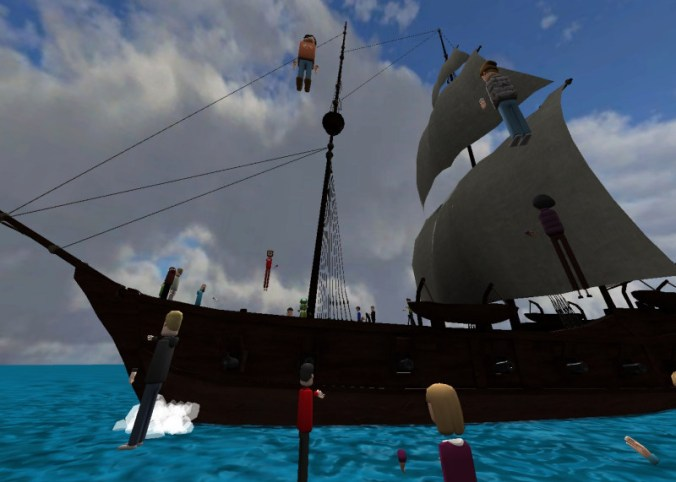 Sailing the seas in AltspaceVR.