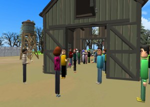 Immersive Education tour of Food Waste project world in AltspaceVR.