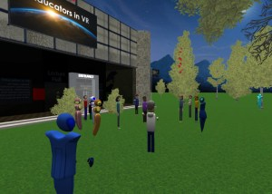 Educators in VR vCoaching and Personal Development Session in AltspaceVR.