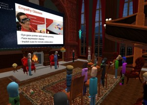 Virtual World Society Fireside Chats in AltspaceVR.