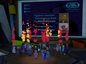 Global HR Summit in AltspaceVR audience selfie.